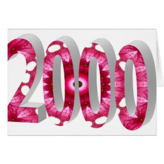 2000 GREETING CARD