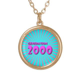 2000 ROUND PENDANT NECKLACE