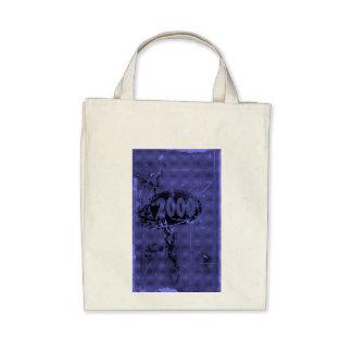 2000 - Purple vintage retro - Tote Bags