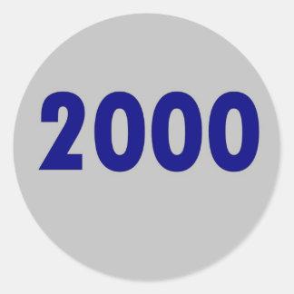2000 ROUND STICKER