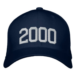 2000 Year Embroidered Baseball Caps