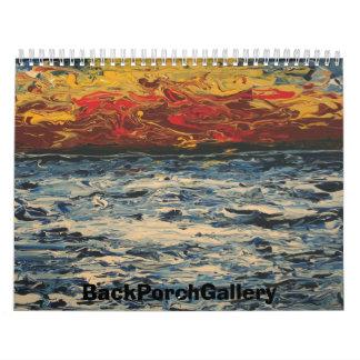 2006-087 Ocean sunset, BackPorchGallery Wall Calendar