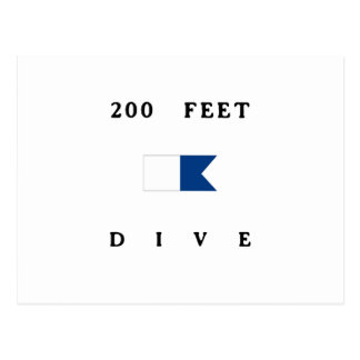 200 Feet Alpha Dive Flag Postcard