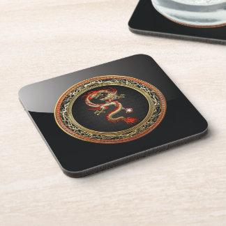 [200] Golden Chinese Dragon Fucanglong Coaster