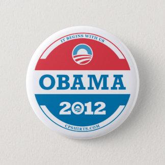 2012 Obama Logo 6 Cm Round Badge