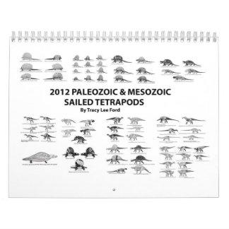 2012 Palaeozoic and Mesozoic Sailed Tetrapods Wall Calendars