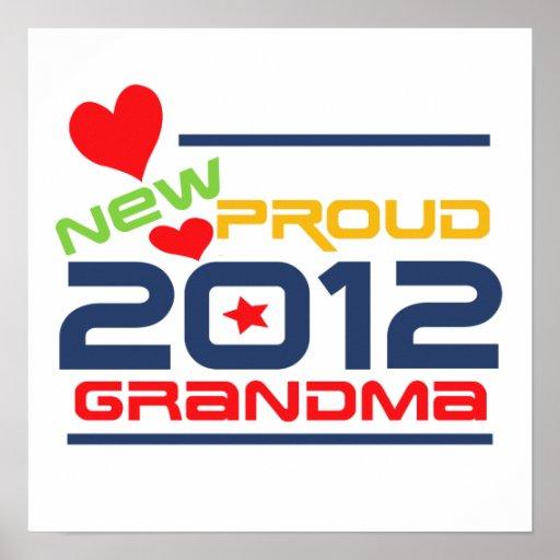 2012 Proud Grandma T-shirts and Gifts Print