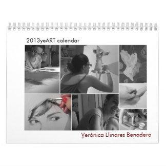 2013 Art Calendar, Verónica Llinares Benadero Wall Calendar