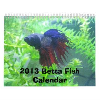2013 Betta Fish Calendar