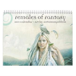 2013 Females of Fantasy Calender Calendar