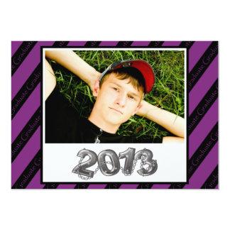 2013 Graduation Invitation Purple and Black