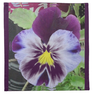 2013 Purple Pansy's Napkin
