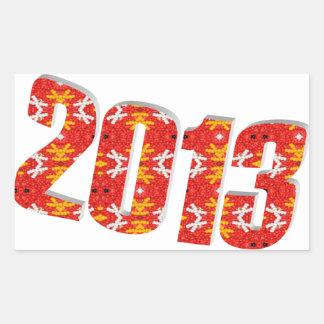 2013 RECTANGULAR STICKER