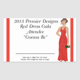 2013 Red Dress Gala Attendee Stickers