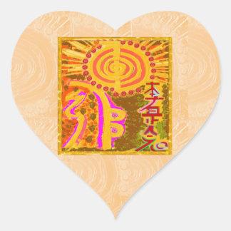 2013 ver. REIKI Healing Symbols Heart Sticker
