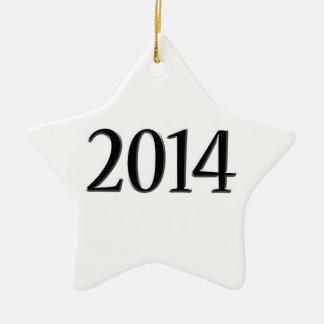2014 Black 3D Graduation Ceramic Star Decoration