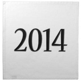 2014 Black 3D Graduation Cloth Napkins