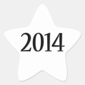 2014 Black 3D Graduation Star Sticker