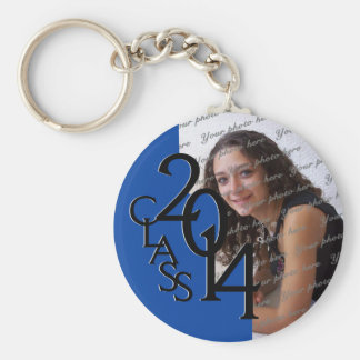 2014 Blue Graduation Keepsake Basic Round Button Key Ring