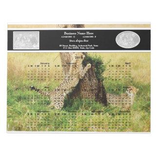 2014 cats baby cheetah notepad