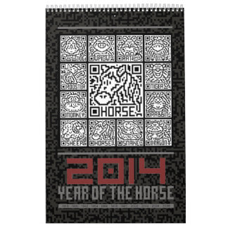2014 Chinese Zodiac Calendar Year Of Horse