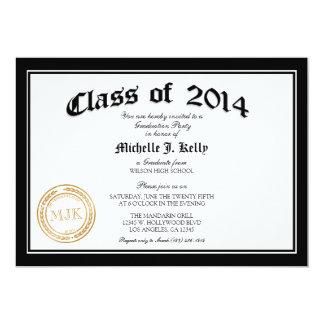 2014 Diploma Graduation Party 13 Cm X 18 Cm Invitation Card