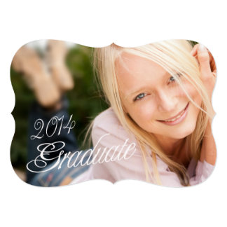 2014 Grad Girly Photo Graduation Party Invitation