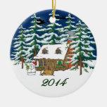 2014 Log Cabin Christmas Ornament