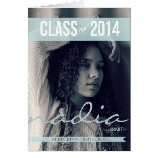 2014 Modern Ribbon Graduation Invitations 2 Greeting Card
