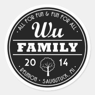 2014 Wu stickers Round Sticker
