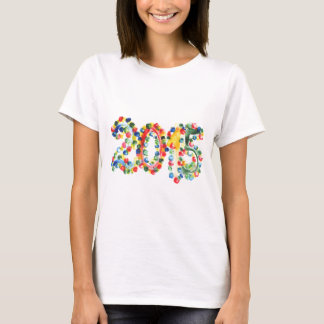 2015 colorful poster paint with finger tips T-Shirt