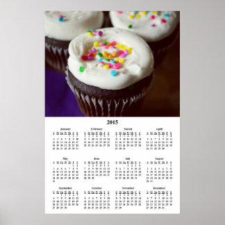 2015 Cupcake Sweet Temptation Calendar Poster
