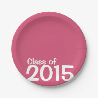 2015 Grad Celebration Paperware by PaperWise 7 Inch Paper Plate