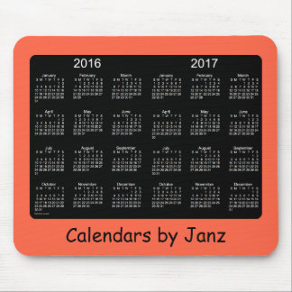 2016-2017 Tomato Red Calendar by Janz Mousepad