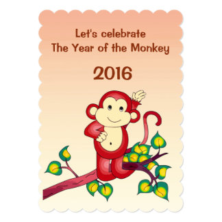 2016 Chinese Lunar New Year of the Monkey 13 Cm X 18 Cm Invitation Card