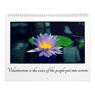 2016 Inspirational Quotes for Volunteers Calendar