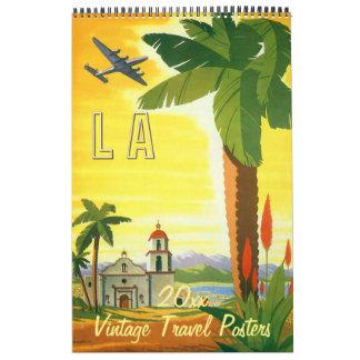 2016 Vintage International Travel Posters Calendars