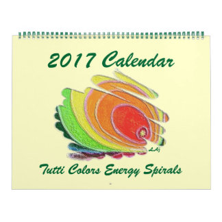 2017 Calendar Colored Energy Spirals Huge 2 Page
