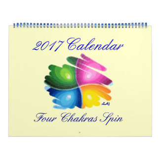 2017 Calendar Four Chakras Spin Huge Two Page