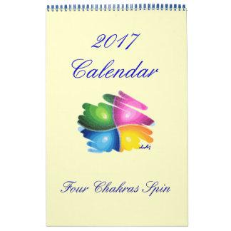 2017 Calendar Four Chakras Spin Single Page