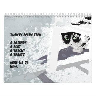 2017 Pets Illustration wall calendar
