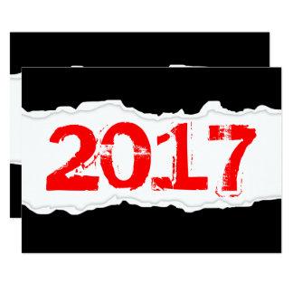 2017 (torn paper) card