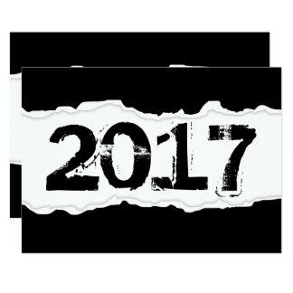 2017 torn paper card