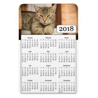 2018 Calendar Personalised Cat Photo Magnet