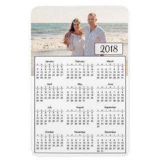 2018 Calendar Personalised Couple Photo Magnet