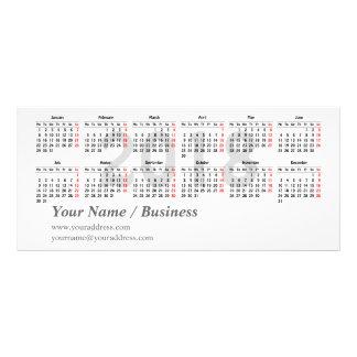 2018 calendar template Rack Card