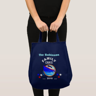 2018 Family Vacation  Cruise Graphic Personalized Tote Bag