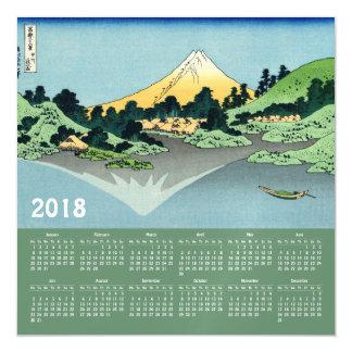 2018 Hokusai Calendar magnetic card