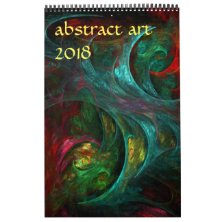 2018 Modern Abstract Art Calendars