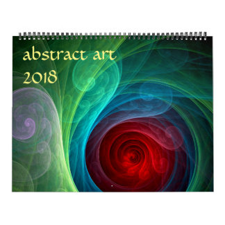 2018 Modern Abstract Art Wall Calendar